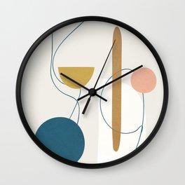 Free Abstract Shapes II Wall Clock