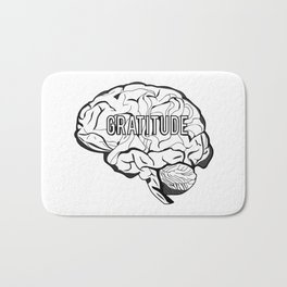 GRATITUDE Brain Bath Mat