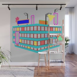neon streets Wall Mural