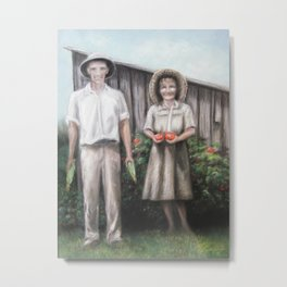 Grandpa and Grandma Hubbard Metal Print