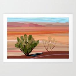 Mojave Desert (Horizontal) Art Print