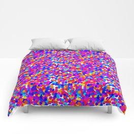 Colorful Dots Mayhem Comforters