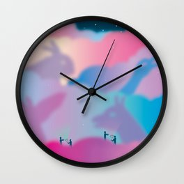 Aurora Borealis Explained Wall Clock