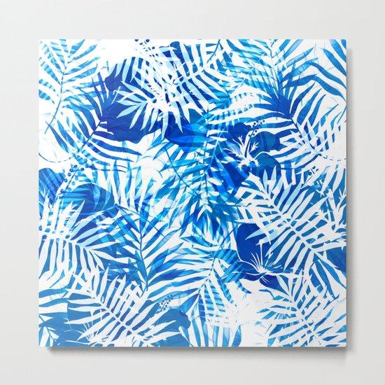 Jungle tropical blue Metal Print