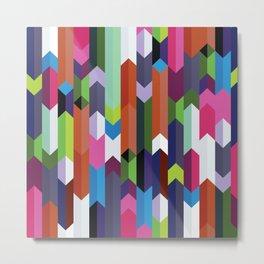 Colorful Chevron Pattern Metal Print