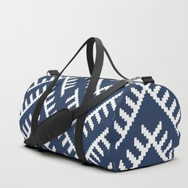 Stitched Arrows in Navy Duffle Bag