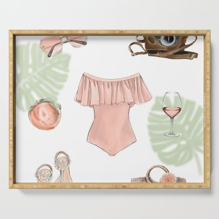 SUMMER by Silvana Arias Serving Tray
