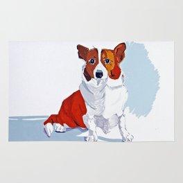 Corgi Dog Portrait Rug