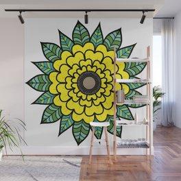 Sun of the Flower Sunflower Wall Mural