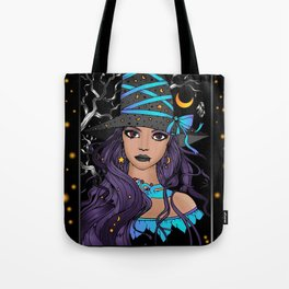 Gothic Witch Girl Tote Bag