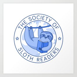 Society of Sloth Readers Art Print
