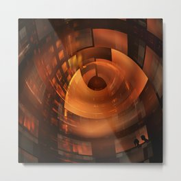 Futuristic architecture and people Metal Print