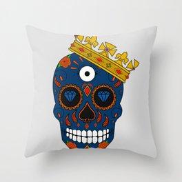 Rey de las calaveras  Throw Pillow