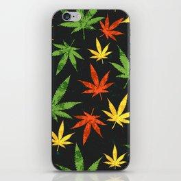 Cannabis. Grunge pattern iPhone Skin