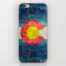 Colorado State flag - Vintage retro style iPhone & iPod Skin