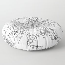 City Of Thieves Floor Pillow
