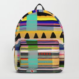 Patchwork beautiful textiles aesthetic kilt work effect Backpack