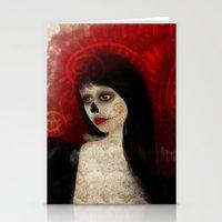 dia de los muertos Stationery Cards featuring Dia de los muertos by solocosmo