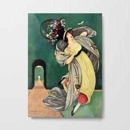 George Wolfe Plank Art Deco Magazine Cover #3 Metal Print