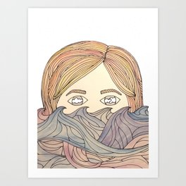 summer's gonna come; it's gonna cloud our eyes again Art Print