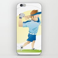 golf iPhone & iPod Skins featuring Golf by Dues Creatius