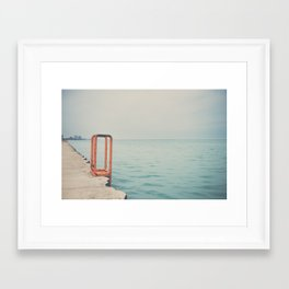 the orange steps ... Framed Art Print