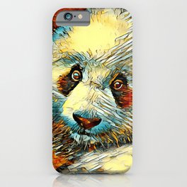 AnimalArt_Panda_20170601_by_JAMColorsSpecial iPhone Case
