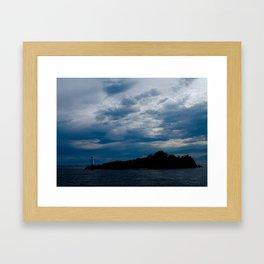 Lighthouse Storm Framed Art Print