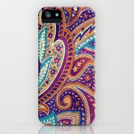 Summer paisley iPhone Case