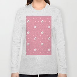 Delicate Pink Flower Pattern Long Sleeve T-shirt