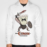 conan Hoodies featuring Conan The Bavarian by Bobby Baxter