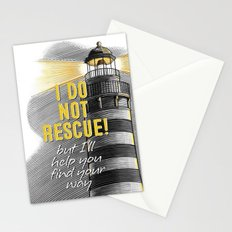Lighthouse. I Do Not Rescue! Stationery Cards