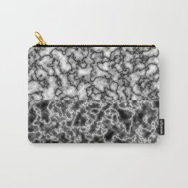 Black and white marble texture 1 Carry-All Pouch