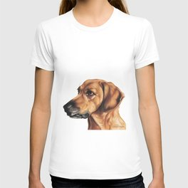 Dog Artwork in coloured pencil T-shirt