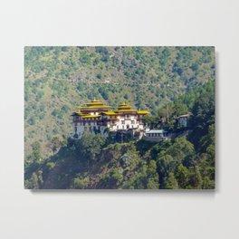 Bhutan: Trashigang Dzong in Eastern Bhutan Metal Print