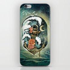 Navigate waves and stars iPhone & iPod Skin