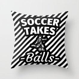 Soccer Fan Gifts Soccer Apparel Football Throw Pillow