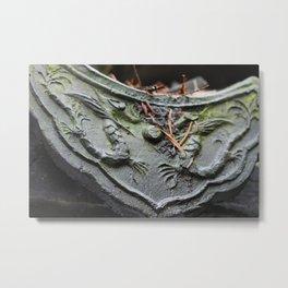 Chinese Dragon Tile Metal Print