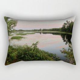 Pennamaquan River at Sunset Rectangular Pillow