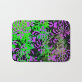 Lime Green and Purple Bath Mat