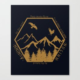 Two ravens flew Canvas Print