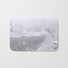 Light Snowfall Bath Mat
