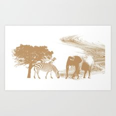 Endangered Art Print