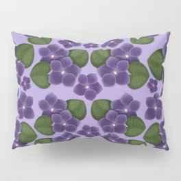 Violets are purple Floral Pattern Blossoms Pillow Sham