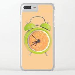 Fruity alarm clock Clear iPhone Case