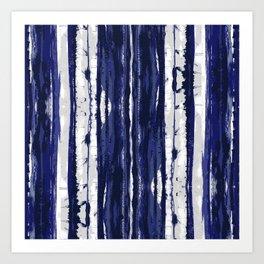Hand Drawn Ikat Stripe Art Print