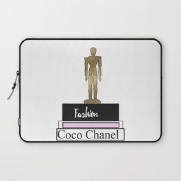 Fashion books and gold mannequin doll fashion illustration Laptop Sleeve
