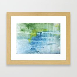 Blue green colored wash drawing Framed Art Print