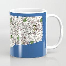 Connecticut in Flowers Coffee Mug
