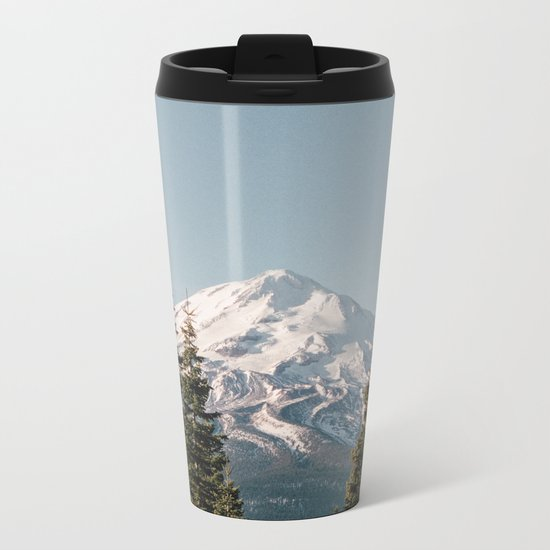 Mt Shasta Morning Metal Travel Mug
